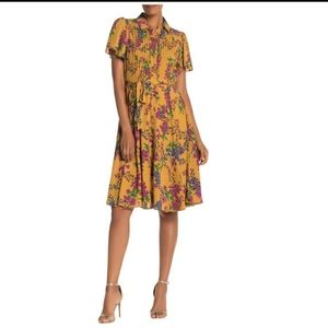 Nanette button down dress with lining